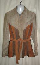 Western Swing Rockabilly Suede Blazer Vintage Coat Women's 15/16
