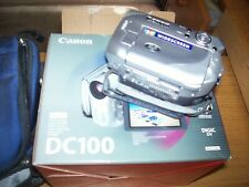 Canon DC100 Camcorder - Silver grey , charger missing , used once.