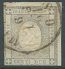 1861 REGNO USATO FRANCOBOLLO PER STAMPATI 2 CENT - U43-9