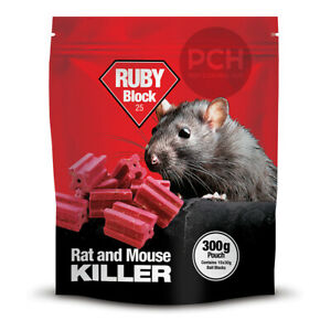 Lodi Ruby Block Wrapped Bait Rat and Mouse Killer Poison Weatherproof