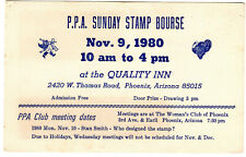 Ppa Stamp Bourse Phoenix Philately Club 1980 Advert Trade Ephemera Post Card