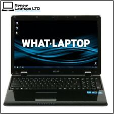"""MSI CR620 15.6"""" laptop i3-M380 2.53Ghz, 4Gb RAM, 320Gb HDD, Windows 10, Webcam"""