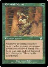 ONE WITH NATURE Scourge MTG Green Enchantment — Aura Unc