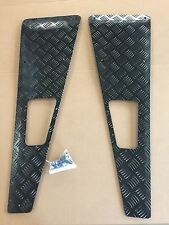 Defender Black chequer plate Wing Top Protection Plates - NEW AND GENUINE