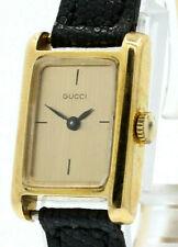 Rara De Colección Década de 1960 GUCCI 18k Oro Amarillo W Hebilla de fantasía de oro sólido Reloj De Señoras
