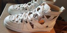 NEW CHRISTIAN LOUBOUTIN Louis Junior Spikes Flat Sneaker white  Shoe EU41