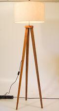 STEHLAMPE Dekoleuchte im Retrodesign TEAKHOLZ Lampe 150 x 45 cm - NEU