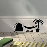 sticker autocollant humour trou de souris déco patte de chat plinthe mur frigo