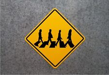 ABBEY ROAD CROSSING SIGN   /   BEATLES COLLECTOR'S PLAQUE -  ALUMINUM