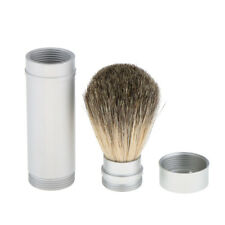 Travel Men Shaving Brush Soap Cream Shave Brush in Aluminum Tube Long Handle