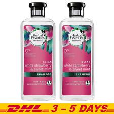 Herbal Essences Bio Renew Shampoo White Strawberry and Sweet Mint 400ml x 2