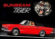 1965 Sunbeam Tiger Showroom Wall Illustration 13 x 18 Giclee Iris Print