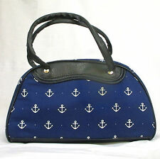 Sac à main Pin-Up Bowling Rockabilly Rock'n'Roll Sailor Encre marine Retro 50's
