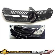 CLS 06-08 FULL BLACK STAR GRILLE CLS63 STYLE AMG PART FRONT CUSTOM CLS600 CLS500