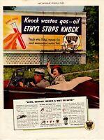 1940's ORIGINAL VINTAGE ETHYL GASOLINE MAGAZINE AD