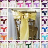 10/20/50/100 pcs Satin Chair Sash, 33 colors! Wedding Banquet Event Wholesale