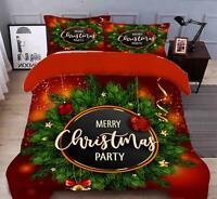3D Ribbon Bell Brand N516 Christmas Quilt Duvet Cover Xmas Bed Pillowcases Fay