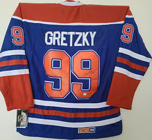 """Wayne Gretzky Signed Official CCM Edmonton Oilers Jersey """"The Great One"""" COA"""