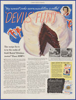 Vintage 1937 Gold Medal Flour Betty Crocker Cake Mix Ephemera 30's Print Ad