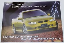 New Holden Commodore VU Storm Ute Sales Brochure Memorabilia Hyper Yellow Mica
