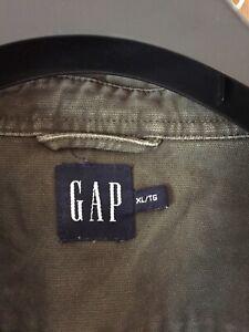 GAP men's khaki denim shirt shaket Xl