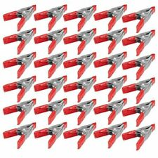 30x 2 inch Mini Metal Spring Clamps w/ Red Rubber Tips Tool LOT of 30 Pcs Pack