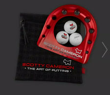 2019 Scotty Cameron Putting Cup Kit Bright Dip Red w/ 3 Logo Balls and Bag