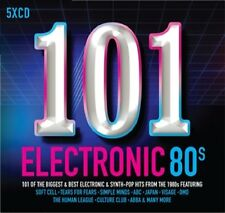 101 Electronic 80's VARIOUS ARTISTS 5 CD SET NEW (15TH SEPT)