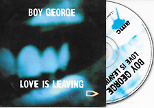 BOY GEORGE - Love is leaving CD SINGLE 2TR Belgium Cardsleeve 1997 (AMC)