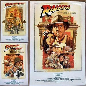 Indiana Jones AP Prints by Paul Mann Art Print Poster Raiders Movie Trilogy Set