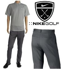 NIKE GOLF PERFORMANCE Flat Front PANTS/POLO SHIRT Men's Large L (36x32) NEW+TAGS