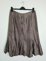RSVP Perri Cutten Brown A-Line Midi Flare Skirt Women's Size 12 Lined AUST MADE