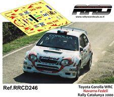 DECAL/CALCA 1/43; Toyota Corolla WRC; Navarra-Fedeli; Rally Catalunya 2000