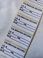 Calibration Record Labels Calibration labels Calibration Stickers with ID