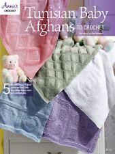 Crochet Pattern Book TUNISIAN BABY Blankets / AFGHANS ~ 5 Designs
