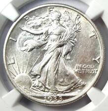 1933-S Walking Liberty Half Dollar 50C - NGC AU53 - Rare Date - Nice Luster!