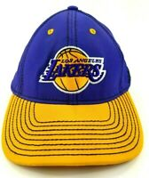 Adidas Los Angeles LA Lakers NBA Fitted Hat Cap S/M Embroidered Purple/Yellow