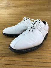 Footjoy Fj Icon Mens 9 Med Golf Shoes model 52114 White Leather Bicycle Toe #K