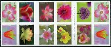 More details for usa 2021 mnh flowers stamps garden beauty flora nature 20v s/a booklet