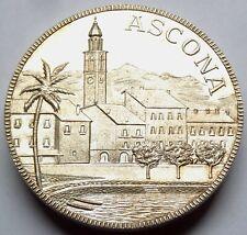Ascona - Lago Maggiore - Große Silber Medaille in 42mm und 28 Gramm