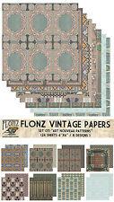"Paper 24sh 6""x6""# Art Nouveau Patterns # Flonz 071 Craft Scrapbooking"
