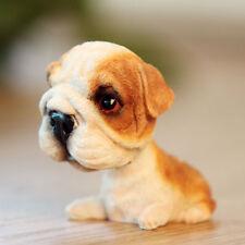 Mini Bobble Head Bulldog Dog Figurine Toys Home Car Dashboard Ornament Statues