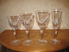 ROGASKA CRYSTAL *NEW* FLAMINIA Set 4 Verres Glasses