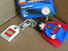 Superman lego mini figure keychain NEW WITH TAGS MAN OF STEEL  Key Chain