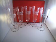 Set of Five Home Wine & Beer Trade Association Pilsner Glasses Glass Brewing