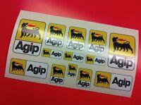 13 Adesivi AGIP vari formati sponsor moto auto