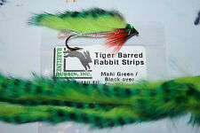 Fly Tying Tiger Barred Rabbit Zonker Strips Regular NEW COLOURS for 2017-18