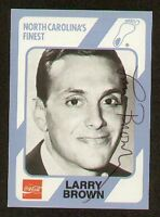 Larry Brown signed North Carolina Collegiate Collection