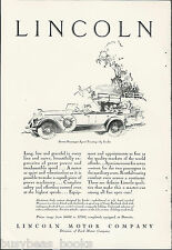 1928 LINCOLN advertisement, large LINCOLN 7-passenger Sport Touring Car