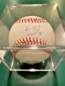 Chipper Jones Autographed/Signed Atlanta Braves OML Baseball HOF JSA